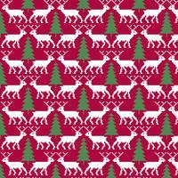 renas nórdicas sem costura e padrão de árvore de Natal