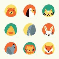 Quadros coloridos com animais sobre eles vetor