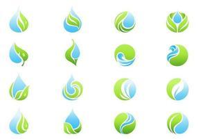 Pacote de vetor de ícones de água - Ícones ambientais