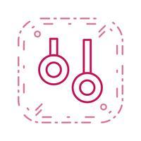 Anéis ícone ilustração vetorial vetor