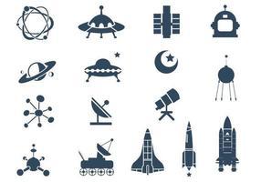 Pacote vetorial do símbolo espacial vetor