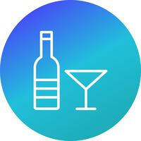 Ícone de vinho de vetor