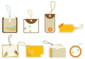 Etiqueta vetorial retro e pacote de etiquetas