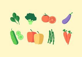 Comida saudável de legumes vetor