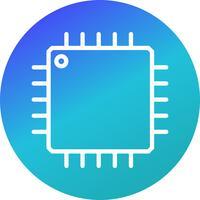 Ícone de processador de vetor