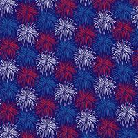 padrão de fundo vermelho branco azul fogos de artifício