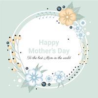 Cartão do dia das mães do vetor