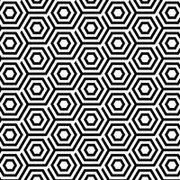Padrão sem emenda com hexágonos abstratos vetor