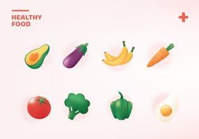 Pacote de vetores de alimentos saudáveis