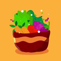 Tigela de salada vetor