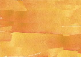 Mão colorida pintada em aquarela de fundo. Pinceladas de aquarela amarela. Textura e fundo abstratos da aguarela para o projeto. Fundo aquarela sobre papel texturizado. vetor