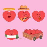 Amo o vetor de ícone de corações em estilo moderno simples para web, design gráfico e móvel. Amo o vetor de ícone de corações isolado no fundo branco. Ame a ilustração do vetor do ícone dos corações, curso editável e EPS10. Ame o símbolo simples do vetor