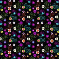 padrão de paisley floral mod