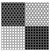 padrões geométricos em preto e branco vetor
