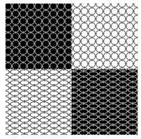 padrões de cadeia geométrica em preto e branco vetor