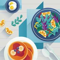 Comida de pequeno-almoço saudável vetor