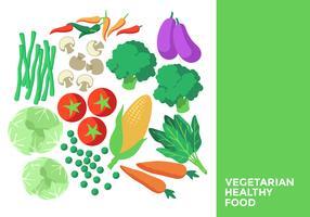 Comida Vegetariana Saudável vetor