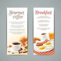 Conjunto de Banners de pequeno-almoço vetor