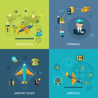 conjunto plano de aeroporto