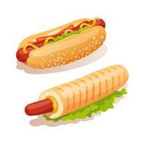 Conjunto de cachorro-quente