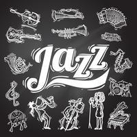 Conjunto de lousa de jazz vetor