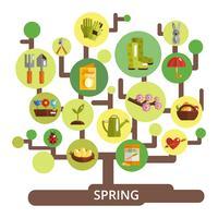 Conceito de temporada de primavera vetor