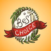 Melhor selo de escolha