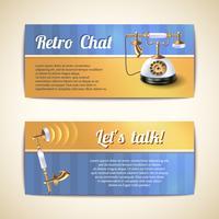 Banners horizontais de telefones antigos