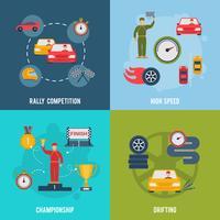 auto esporte plano vetor