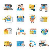 Compras E-commerce Icon vetor