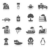 Poluição ícone preto