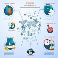 Conjunto de infográficos de negócios vetor