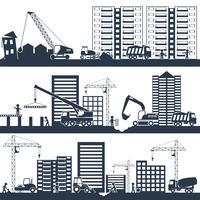 Composição de construção preto