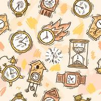 Relógio sem costura padrão vetor