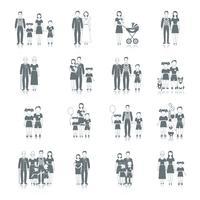 Família ícone preto