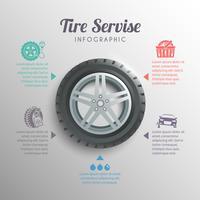 Infográficos de serviço de pneus vetor