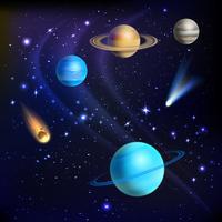 Ilustração de fundo do espaço vetor
