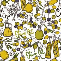 Olive padrão sem emenda vetor