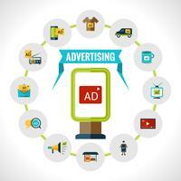 Conceito de outdoor de publicidade vetor