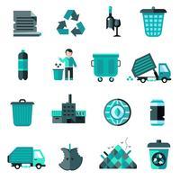 Conjunto de ícones de lixo