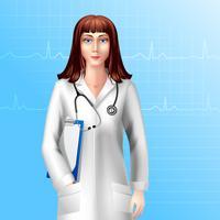Personagem de médico feminino vetor