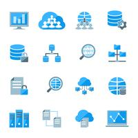 Ícones de big data vetor