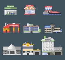 Conjunto de edifícios planos do governo