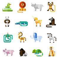 Conjunto de animais da selva vetor