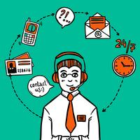 Impressão de infográficos de serviço de suporte ao cliente