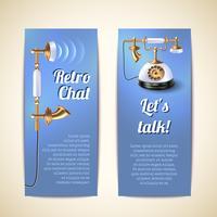 Banners telefônicos verticais vetor