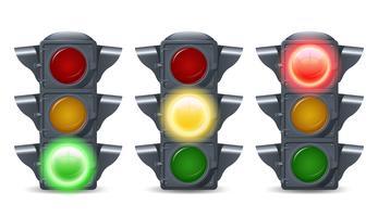 Conjunto de luzes de tráfego