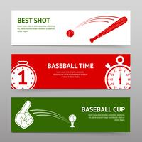Conjunto de Banners de beisebol vetor