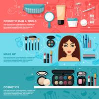 Conjunto de banner de maquiagem