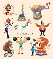 Conjunto de ícones de circo vetor